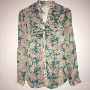 Twenty one long sleeve floral button down